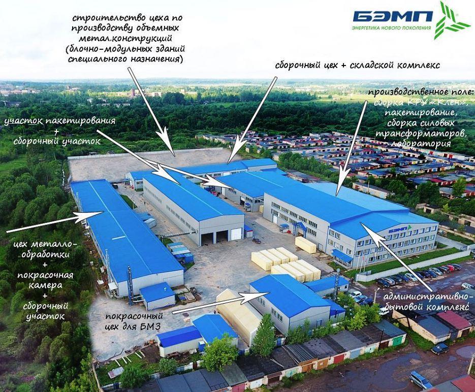 Схема производственного участка БЭМП в Бокситогорске