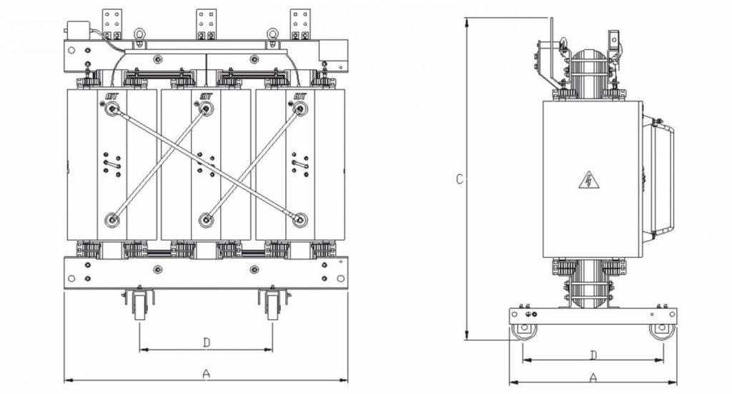 BEMP Сухие трансформаторы с литой изоляцией ISOCAST-R chertezh-1024x552