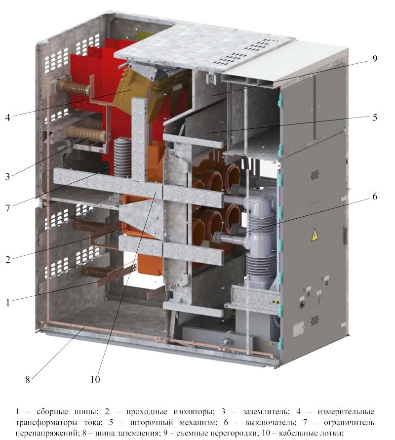 Общее устройство КРУ-35 Кедр bemp