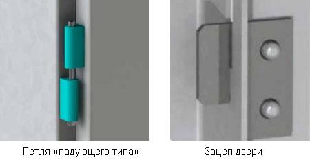 КРУ-70 Клён bemp Петля и зацеп двери отсека выдвижного элемента ВЭ-3